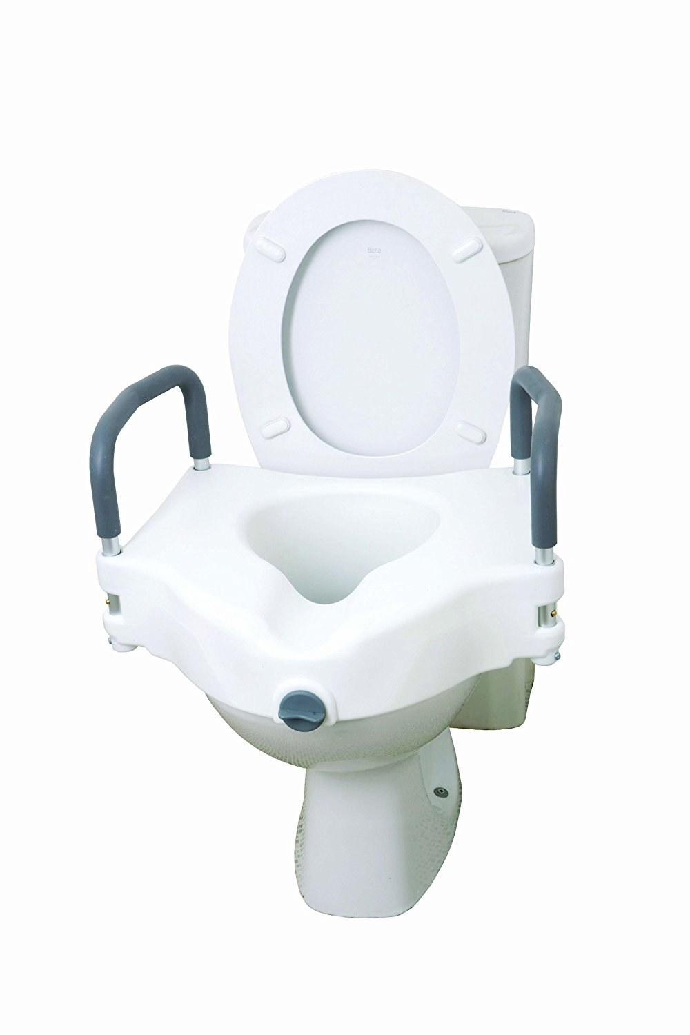 Raised Toilet Seat With Arms Bathroom Aids