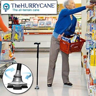 Hurrycane All Terrain Folding Walking Stick