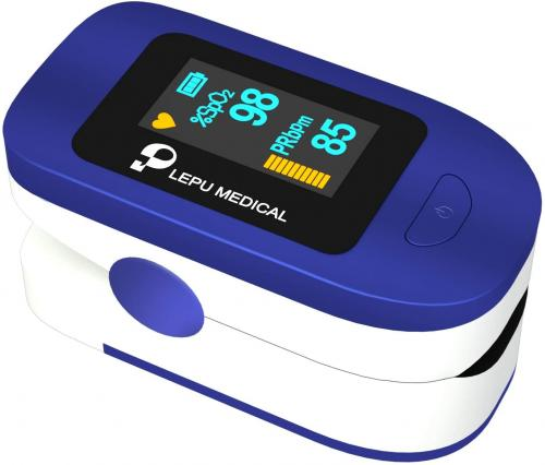 Medical Finger Pulse Oximeter - Oxygen Blood Level Monitoring