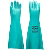 Extended Length Nitrile Gauntlet Green Gloves