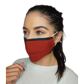 Reusable Fabric Face Mask - Wine