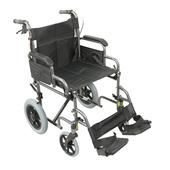 Deluxe Attendant Propelled Steel Wheelchair