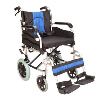 Deluxe aluminium attendant wheelchair