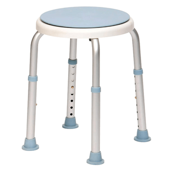 Bath Stool with adjustable height & swivelling seat