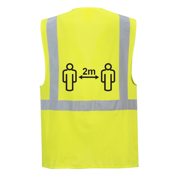 Social Distancing Executive Vest 2m Yellow
