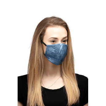 Reusable Cotton Face Mask - Jean Design