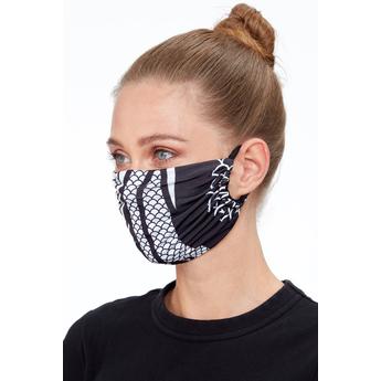 Reusable Face Mask Black Print