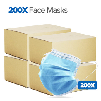 200 medical face mask pack