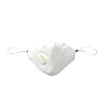 White Reusable Face Masks With Valve