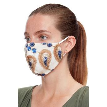 Reusable Face Mask Gold & Blue