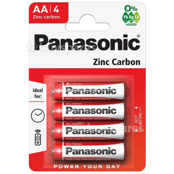 Panasonic Zinc Carbon 4 x AA Battery Pack