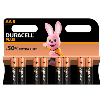 Duracell Plus 8 x AAA Battery Pack