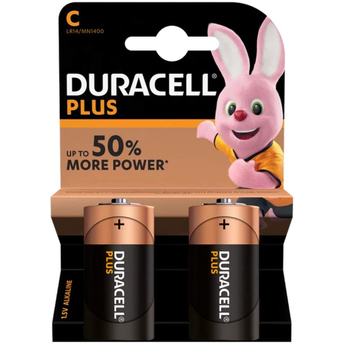 Duracell Plus 2 x C Battery Pack