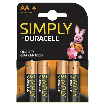 Duracell Simply 4 x AA Battery Pack