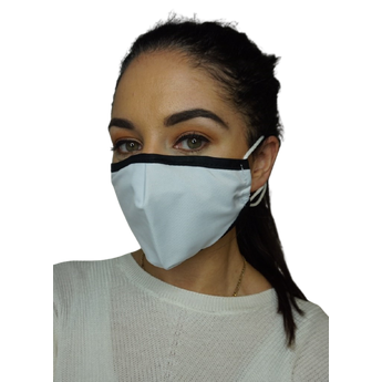 Reusable Fabric Face Mask - White