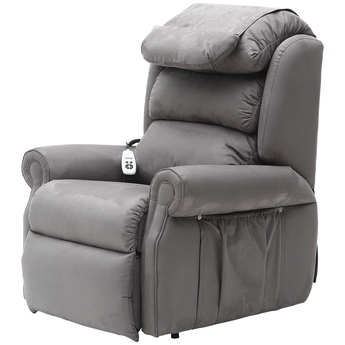 Sandfield Rise and Recline Dual Motor Armchair - Grey