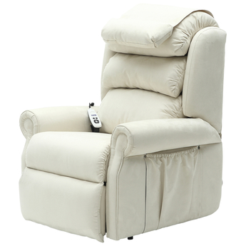 Sandfield Rise and Recline Dual Motor Armchair - Cream