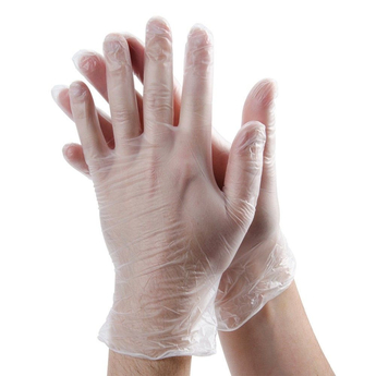Clear Vinyl Disposable Gloves Box of 100