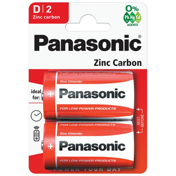 Panasonic Zinc Carbon 2 x D Battery Pack