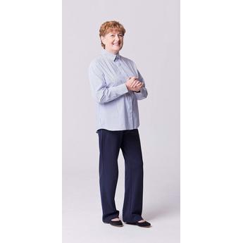 Blue & White Easy Close Stripe Shirt