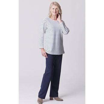 White & Navy Breton Stripe Tunic