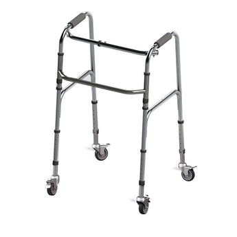 Four-Wheeled Foldable Aluminum Walker