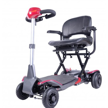 Folding Mobility Scooter Red
