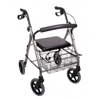 Aluminium Walker With Basket