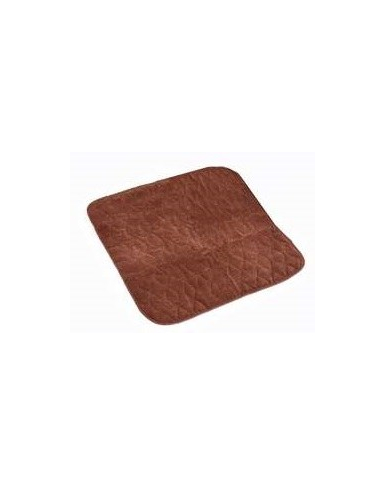 Quilted Chair Pad - Brown