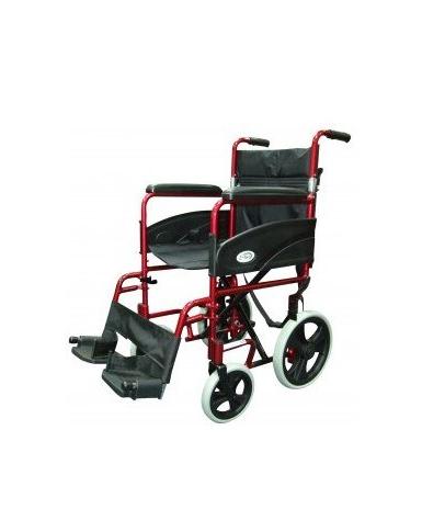 Transit Folding Wheelchair red